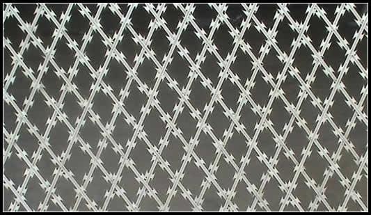 被焊接的剃刀电汇滤网这美丽的铁面纱